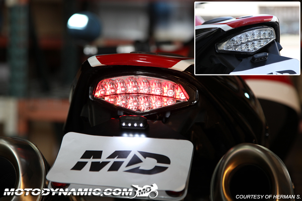 09-14 ducati monster 696 796 1100 integrated turn signal led tail