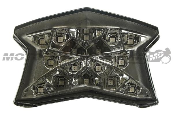 Integrated Sequential LED Tail Lights Smoked Lens for 2020 Kawasaki Ninja 650 Z650