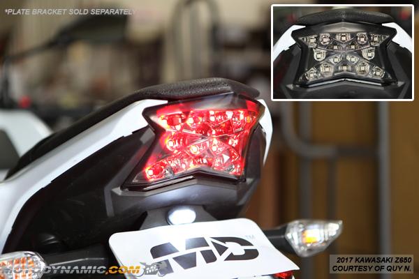 BSK 2012-2016 Kawasaki Ninja 650 Z 650 Integrated Sequential LED Tail Lights Smoke Lens