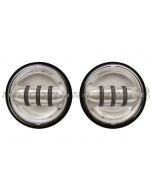 """4"""" LED Projection Auxiliary Passing Lamps for Harley Davidson Chrome"""
