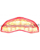 2014 2015 2016 2017 2018 2019 2020 Ducati Monster 797 821 1200 1200S 1200R Supersport Sequential Integrated LED Tail Light Clear