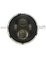 "7"" LED Projector Head Light Black for Harley Davidson 2012-2013 FLD / 1994-2013 Touring & Softail Models"