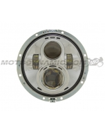 "7"" LED Projector Head Light Chrome for Harley Davidson 2012-2013 FLD / 1994-2013 Touring & Softail Models"