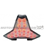 2018 2019 2020 2021 Kawasaki Ninja 400 Z400 Sequential Integrated LED Tail Lights Clear