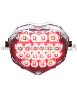 2013 2014 2015 2016 2017 2018 2019 2020 Triumph Daytona 675/675R Moto2 765 & Street Triple 765 R S RS LED Tail Light with Integrated Alternating Sequential LED Signals in Clear Lens
