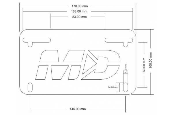 LED Luce Numero targa di supporto della staffa di coda ordinata Fender Eliminator for YAMAHA FJ09 FJ09 MT-09 Tracer 900 2015-2020