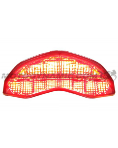 2014 2015 2016 2017 2018 2019 2020 Ducati Monster 821 1200 1200S 1200R Supersport Integrated Sequential LED Tail Light Smoke