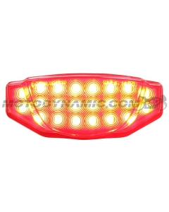 2015 2016 2017 2018 2019 2020 2021 Ducati Scrambler Integrated Sequential LED Tail Light Smoke