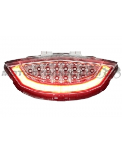 2017 2018 2019 Honda CBR-1000RR LED Tail Light with Integrated Alternating Sequential LED Signals in Clear Lens