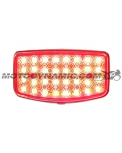2003-2020 Honda Ruckus NPS50 Motor Scooter LED Tail Lights with Integrated Alternating Sequential LED Signals in Smoke Lens