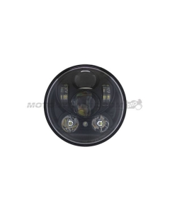 "5-3/4"" LED Projector Head Light Black for Harley Davidson Dyna Sportster and More"