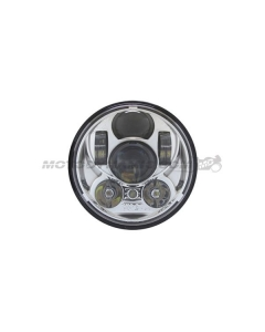 "5-3/4"" LED Projector Head Light Chrome for Harley Davidson Dyna Sportster and More"