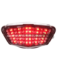 2008-2012 Kawasaki Ninja 250R Sequential LED Tail Lights Clear
