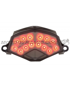 2009-2012 Kawasaki Ninja ZX-6R 2008-2010 ZX-10R 2007-2009 Z1000 Sequential LED Tail Lights Smoked