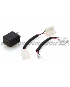 Motodynamic Electronic LED Flasher Relay 12V 2-Prong with Connector