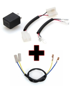 Motodynamic Electronic LED Flasher Relay + Resistor Bypass Harness Combo for Yamaha
