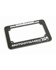 Motodynamic license plate frame