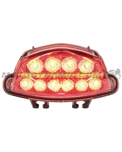 2016 2017 2018 2019 2020 Suzuki GSX-S1000 GSX-S750 GSX-S750Z LED Tail Light with Integrated Alternating Sequential LED Signals in Clear Lens