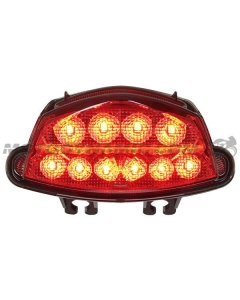 2016 2017 2018 2019 2020 Suzuki GSX-S1000 GSX-S750 GSX-S750Z LED Tail Light with Integrated Alternating Sequential LED Signals in Smoke Lens
