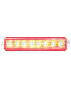 Universal 12V Sequential Integrated Turn Signal LED Tail Light Clear Lens