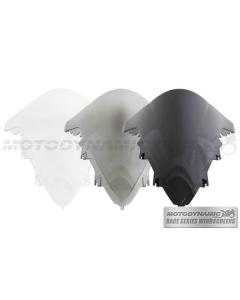 Motodynamic Race Series Windscreens - Yamaha R1 2009-2014 Clear Light Smoke Black