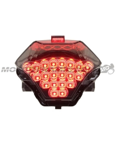 2015 2016 2017 2018 2019 2020 Yamaha YZF R3 Sequential Integrated LED Tail Lights Smoked